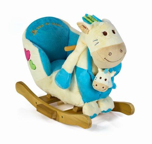 Dreams4Home Schaukelspielzeug \'Penny\' , Babyschaukel, blau, Schaukeltier, Kinderzimmer, Baby cm, blau