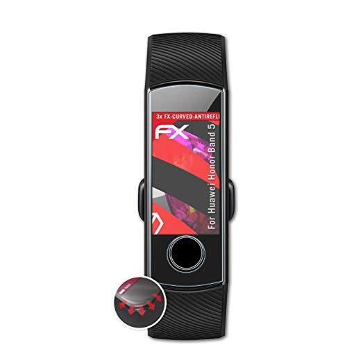 atFoliX Schutzfolie passend für Huawei Honor Band 5 Folie, entspiegelnde & Flexible FX Bildschirmschutzfolie (3X)