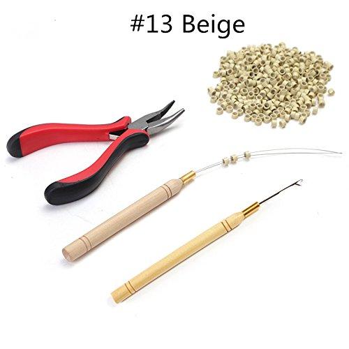 Set per rimuovere extension di capelli con 1 pinza, 1 uncino per tirare, kit di attrezzi per perline e 200 micro anelli