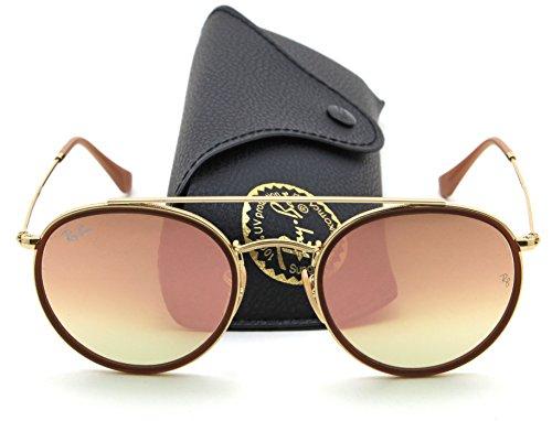 Ray-Ban RB3647N ROUND DOUBLE BRIDGE Unisex Sunglasses 001/7O, 51mm