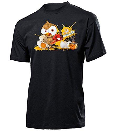 Golebros Eule Serial Killer 5855 Halloween Kostüm Herren T-Shirt (H-SW) Gr S