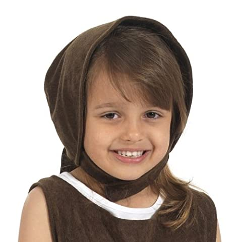 Brown Historical Bonnet for kids one size fits