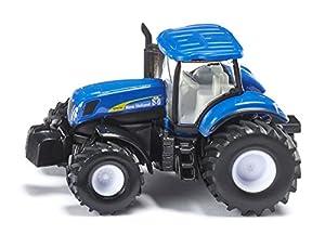 SIKU New Holland T7070 1:87 Preassembled - Modelos de vehículos de Tierra (1:87, Preassembled, New Holland T7070, Tractor, De plástico, Caucho, Negro, Azul, Color Blanco)