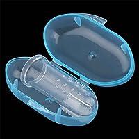 Mengonee Masajeador de goma suave infantil de los dientes del cepillo de dientes del dedo del bebé con la caja