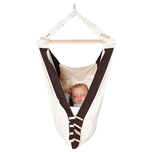 """AMAZONAS Babyhängematte """"Kangoo"""" Babyschaukel, natur/braun"""