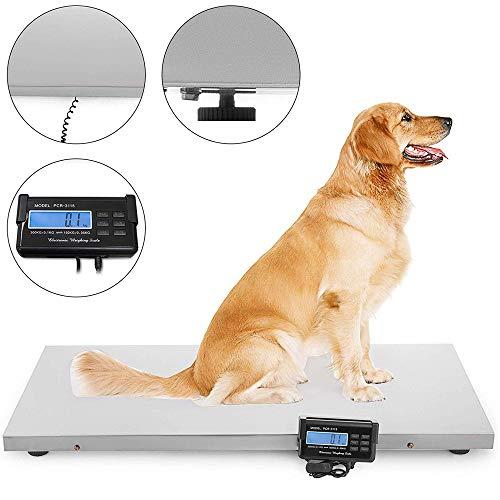HUKOER Escala digital alta precisión mascotas, 300KG