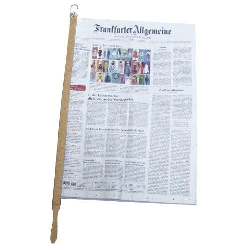 """Zeitungshalter Zeitungsstock \""""Pronto\"""" buche hell max. 60cm Einspannlänge"""