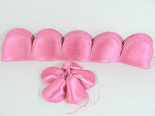 10 fiori portaconfetti 5 petali in raso rosa fucsia - fiore fuxia con tirante - bomboniere bomboniera