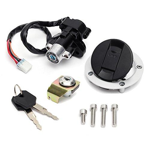 Alamor Verrouillage de l'interrupteur d'allumage et siège de clé de bouchon de carburant pour Suzuki GSXR600 750 1000 03-15