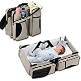 #8: Best Deals - Travel Bed and Diaper Bag for Baby (Multi Color - Random Color will be shipped)