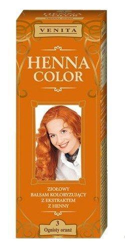 Henna Color 3 Flaming Orange Haarbalsam Haarfarbe Farbeffekt Naturhaarfärbemittel Henne Öko (Für Henna Haarfarbe Frauen)