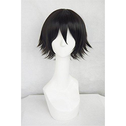 LanTing Cosplay Perücke DuRaRaRa!! Kisitani Shinra black styled Cosplay Party Fashion Anime Human Costume Full wigs Synthetic Haar Heat Resistant ()