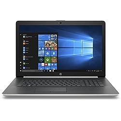 HP 17-ca0040nf PC Portable 17,3'' HD Argent (AMD Ryzen 3, 4 Go de RAM, 1 To de Stockage, AZERTY, Windows 10)