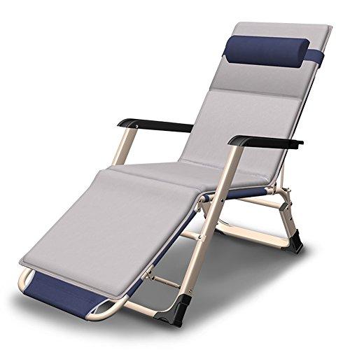 HPLL Liegestuhl Campingstuhl Einfacher verstärkter praktischer Klappstuhl / Büro-Mittagspause Recliner / Balkon-schwangeren Frauen-alter Mann-Klubsessel- / Garten-im Freien beweglicher Strand-Rückenle
