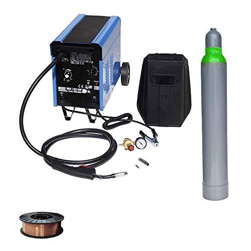 Güde Schutzgasschweißgerät MIG 155 + WD Tools Schweißdraht 5 kg & Schutzgas
