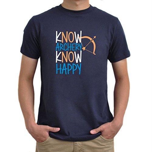 Maglietta Know archery know happy Blu navy