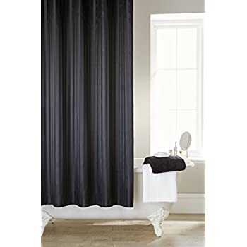 interdesign long black made poly curtain shower bath of polyester curtains dp ac