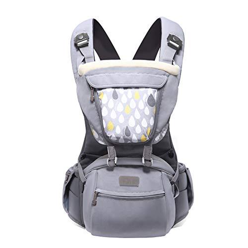 TLTLYEBD Ergonomische Babytrage, 3-in-1 Graue Babytrage, Unisex-Babytrage - Four Seasons Universal (≤15kg, 3-36 Monate)