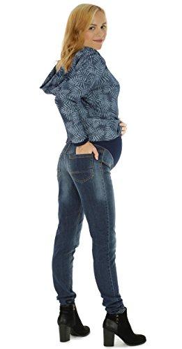 Schwangerschaftshose Jeans UmstandsHose Damen Hose Straight (32L & 36L) Denim Blue