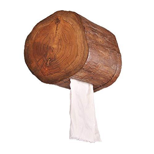 Preisvergleich Produktbild ZSLLO Thai Stil Massivholz Papier Handtuch Rohr Home Hotel Badezimmer Rollenpapier Rohr Toilettenpapier Handtuchhalter Badezimmer Küche Papierkorb