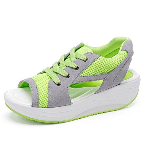 Sandales fashion Ladies/Mesh respirant chaussures/ hautes chaussures occasionnelles B