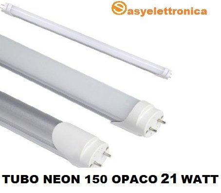 Traditional Matt Neon LED SMD 150cm with Attack T8Tube 21W = 200W Neon, Light Cool White 6000–6500K 1900Lumen High Luminosita 'Duration Up To 50,000Hours Operation to 220V without the need of Starter and Reactor Futur Print®
