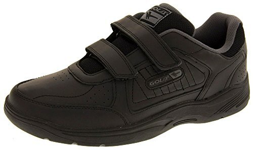 Gola Belmont Rip Tape Wide Fit Mens Trainer - Black - UK...