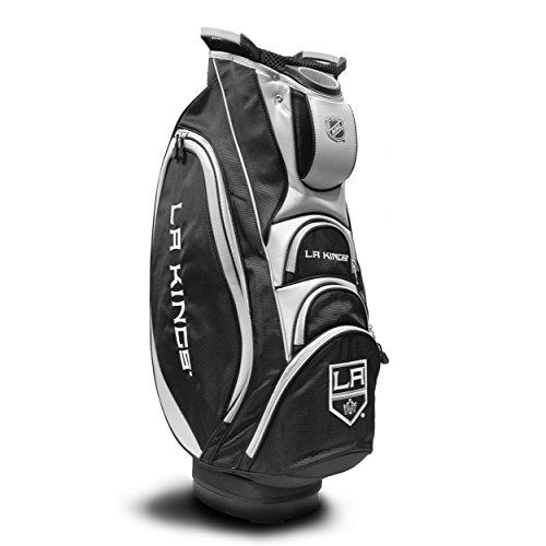 Team Golf NHL Victory Golftasche, 10-Wege-Oberteil mit integriertem Doppelgriff und externem Putterschlauch, Kühltasche, gepolsterter Gurt, Regenschirmhalter und abnehmbarer Regenhaube, Herren, Los Angeles Kings, Einheitsgröße -