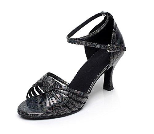 Minitoo da donna Fashion con nodo Stampato Danza moderna scarpe Black