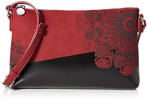 Desigual Bag 2tones Durban, Bolso para Mujer, Rojo/Negro (Carmin), 17.5 x 4 x 27.2 cm (B x H x T)