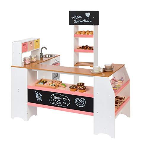 MUSTERKIND Kaufladen - Grano Weiss apricot - Kinderkaufladen aus Holz