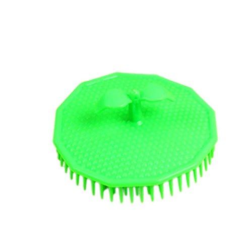 GREEN Polygon Shampoo Bürste Peeling Haarbürste Kopfmassage Pinsel Kunststoff Shampoo Haarpflege sauber -