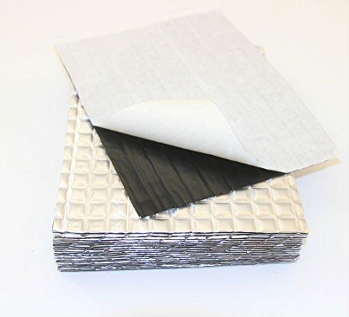 Preisvergleich Produktbild 40 große Blätter Dämmmatte,  XR-Autosound-Dämpfungsfolie aus Aluminium-Butyl,  Isomatte