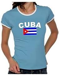 KUBA FLAGGE Cuba libre Girly Ringer S M L XL