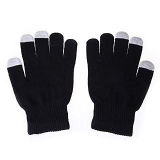 Amazingdeal365 Women Men Touch Screen Soft Cotton Winter Gloves Warmer Smartphone Black