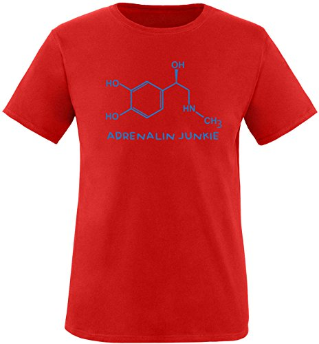 EZYshirt® Adrenalin Junkie Herren Rundhals T-Shirt Rot/Blau