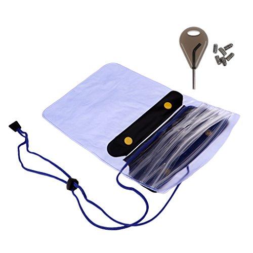 Unbekannt Surfbrett Surfen Surf Fin Key Screws & Zipper wasserdichte Lagerung Dry Bag