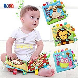 UCA YEBS022 - Juego de 3 Libro Blando de Bebé Aprendizaje y Educativo