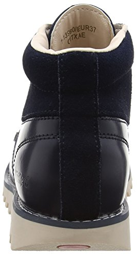 Kickers Kick Hi Side, Leather Dk Blue Damen Kurzschaft Stiefel Blau (Dunkelblau)