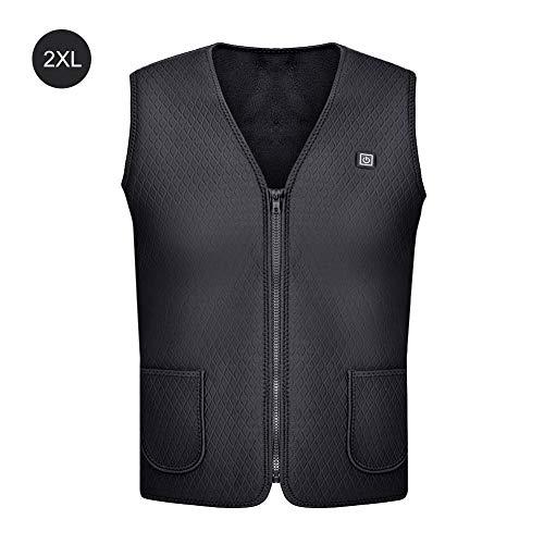 MING Beheizte Weste, USB-Ladestation, beheizte Jacke, elektrisch beheizte Jacke, Reiten, Skijacke, geeignet für den Winter, Camping, Angeln, Outdoor-Sport -