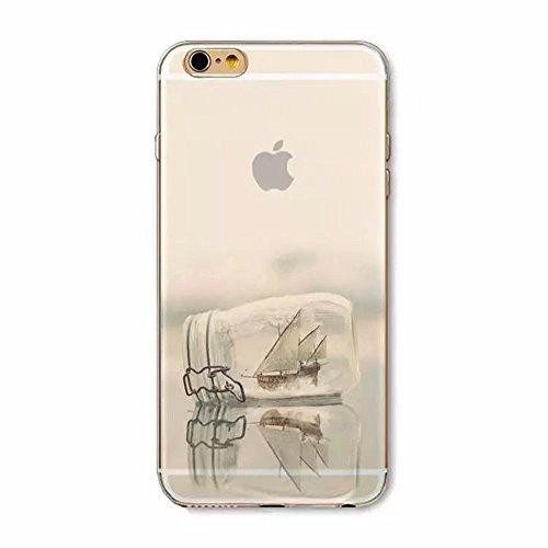 KSHOP 3D Imprimé Coque Housse pour iPhone 6 6S 4.7 pouces Etui Téléphone en Silicone Bumper + PC Back 2 in 1 Hybride Plastique Case Cover Transparent Couvrir Anti-scratch Antichoc Flexible Souple Back Paysage 23
