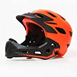 YLFC Helm für Kinder, Kinder Fahrradhelm mit Kinnschutz Abnehmbar, Fullface Helm Kinder, Kinder Laufrad Helm für 2-10 Jahre,Passt für Kopfgröße 48-54cm