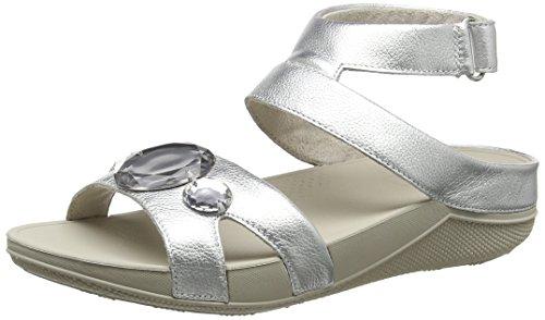 FitFlop Damen Luna Pop Gladiator Sandals Absatz Silberfarben