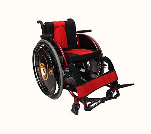 Mode Sport Rollstühle 13,2 KG Ultra Leichte Transport Stuhl Bequeme Arme Und Heben Beine 100kg Last Rehabilitation Training,Red - Arme Heben Bein