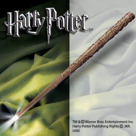 Hermine Granger Zauberstab leuchtend in Geschenkbox zu Rowlings Roman, Leuchtspitze, Emma (Potter Zauberstab Harry Licht)