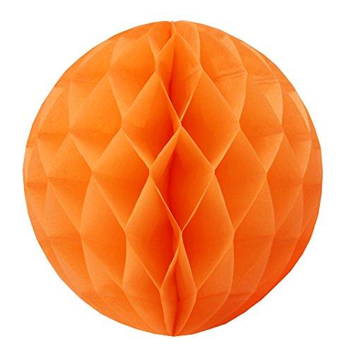 cm Papier Wabenbälle Hochzeit Geburtstag Feier Dekoration (5 Stück) (25cm, Orange) (Halloween Orange County)