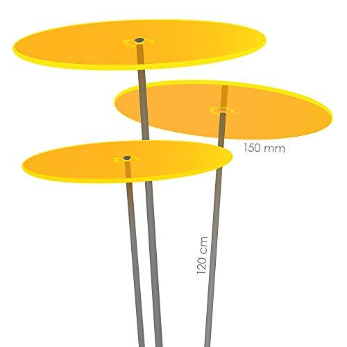 Cazador del Sol ® Medio | tres | 3 Stück Sonnenfänger-Scheiben gelb 1,20 Meter hoch - das Original