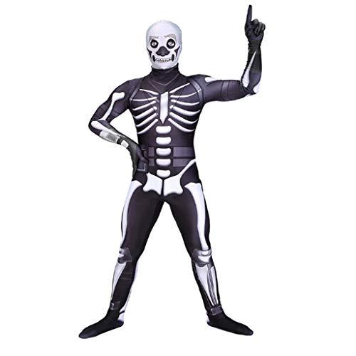 YEGEYA Halloween Cosplay Kostüm Ghost Faces Consternation Show Kostüme Erwachsene Kinder Parenting Kostüme (Color : Adult, Size : XXXL) (Ghost Face Kostüm Für Erwachsene)