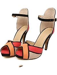 Perfect by V J - Zapatos con tacón mujer, color blanco, talla 42