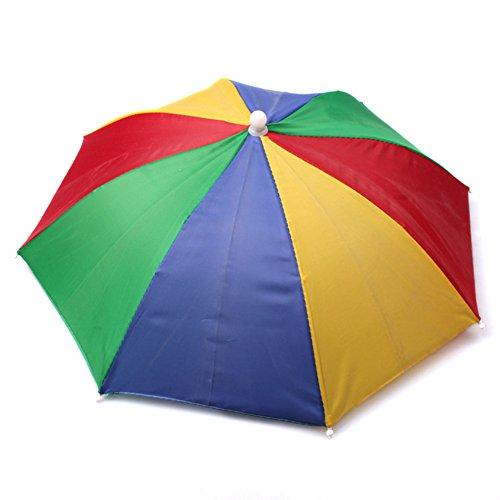 Gorra de sombrilla plegable paraguas - Sombrerería para adultos - Perfecto para el carnaval, el festival, la playa y actividades al aire libre - Talla única para todos